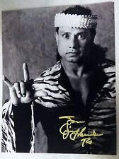 "WWF Wrestling Legend Jimmy ""Superfly"" Snuka Signed 8x10 Photo Auto RIP 1/15/2017"
