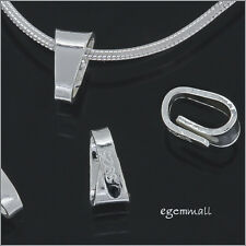 6 Sterling Silver Snap On Lock Bail Pendant Clasp 5.6mm #51926