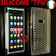 Cover Custodia Per Nokia N9 Trasparente Gel Silicone TPU Case Diamond Clear