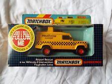 Matchbox Superkings K144 HEATHROW AIRPORT RESCUE Land Rover