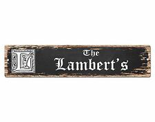 SPFN0303 The LAMBERT'S Family Name Street Chic Sign Home Decor Gift Ideas