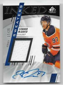 20/21 SP GAME USED INKED SWEATERS AUTOGRAPH JERSEY #ISCM Connor McDavid #17/25