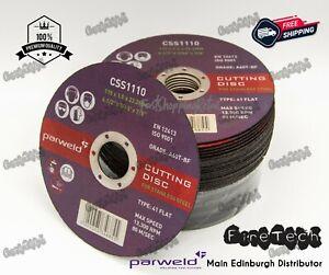 "Parweld (4.5"") 115mm x 1mm x 22.2mm Thin Stainless Steel Metal Cutting Discs"