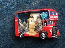 2X 3D RED LONDON BUS FRIDGE MAGNET ICON NOVELTY HOLIDAY SOUVENIR BRITISH GIFT UK