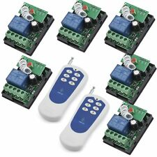 DC12V 6x1CH Wireless RF Remote Control Relay Switch Set 2 Transmitter Receiver