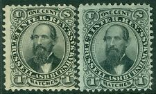 USA : 1864. Scott #RO163a, b Both Very Fine, Used. Catalog $30.00.