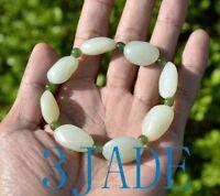 Natural Nephrite Jade Nugget Beads Bracelet