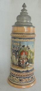 Humpen Bierkrug Turnen 4 F Turnvater Jahn Gut Heil Student um 1900 Sammelkrüge