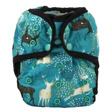 Baby Diaper Cover Nappy Cover Double Gussets Reusable One Size Forest Deer