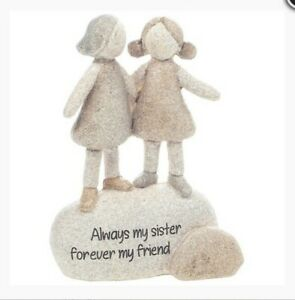 Shudehill Pebble Pals ALWAYS MY SISTER FOREVER MY FRIEND Sentiment Stone 311072