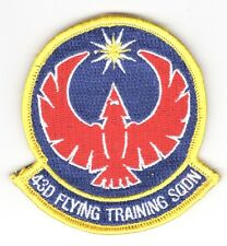 """USAF Air Force Patch:   43rd Flying Training Squadron - 3 1/4"""" hook & loop"""