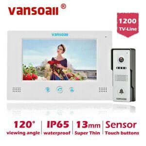 "VANSOALL 4-Wired Video Door Phone Intercom System 7"" Monitor Support Unlock"
