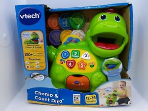 Vtech Chomp & Count Dino 130+ Songs Melodies Sounds Phrases 12-36 Months ~ Read!