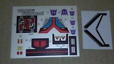 Transformers premium quality replacement sticker/decal sheets for G1 Astrotrain