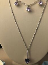 Touchstone Crystal Necklace Purple