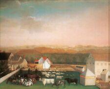 NEW LEEDOM FARM ART PRINT IN ORIG PACKAGE EDWARD HICKS ABBY ALDRICH WILLIAMSBURG