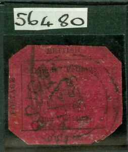 SG 24 British Guiana 1856. 4 cent, black/magenta. Very fine used by almost