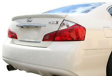 PAINTED REAR WING SPOILER FOR AN INFINITI M35 M45 FLUSH FACTORY STYLE 2008-2010