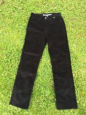 Escada Sport Ladies Classic Black Needlecord Jeans Straight Cut Size 36 (S)