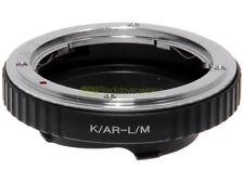 Adapter per obiettivi Konica AR su fotocamera Leica M. Adattatore LM-Konica.