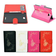 Card ID Phone Leather Stand Flip Hard Pocket Cover Case Skin For Sony Xperia