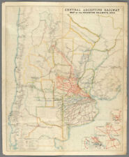 Central Argentine Railways. Argentina Chile. Buenos Aires. 120x100cm 1920 map