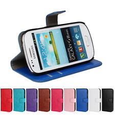 For Samsung Galaxy S3 mini i8190 High Quality Wallet Case Cover Protector Pouch