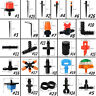 Multi-Style Emitter Dripper Micro Drip Irrigation Sprinkler Watering System Lot
