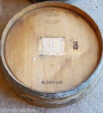 Authentic 1/4 Wine Barrel Head Solid Oak Napa Winery With Logo FREE SHIPPING
