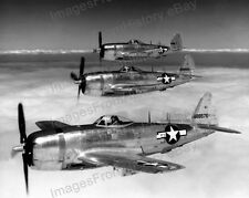 8x10 Print Airforce Republic P-47N Fighters in Formation Carrier Escorts #RP47