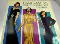 Dover Celebrity Paper Dolls: Joan Crawford by Tom Tierney (1983, Paperback)