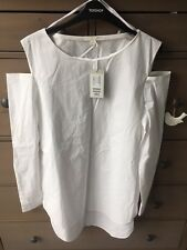 COS White Cold Shoulder Shirt Dress Tunic Uk 10 BNWT £59