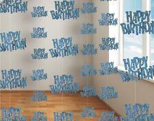 Alles Gute Zum Geburtstag Blau Glanz Prismatisch Party
