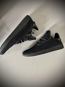 Adidas x Pharell Williams HU mens Tennis Trainers Black size UK 9 EU 43 1/3 New