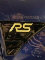 4x Ford Focus RS MK2 3D Gelembleme Inlays Front Heck Lenkrad