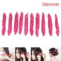 10PCS Magic Curler Hair Rollers Night Sleep wave point Foam Hair Curler Roll sp