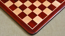 "Wooden Chess Board Blood Red Bud Rose Wood 21"" - 55 mm SKU: D0131 Free P&P."