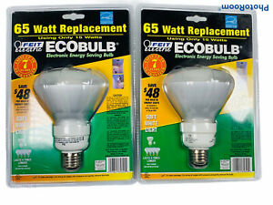 🔥Lot Of 2 • Feit Eco Bulb 65 Watt Replacement • Soft White Light