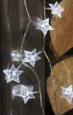 Star Crystal Garland String Lights 40 White LEDs