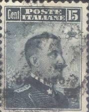 ITALIE ! Timbre ancien Surcharge Renversée de 1915 n°101a