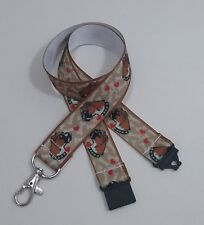 Boxer dog brown ribbon lanyard safety ID badge holder key strap teacher gift