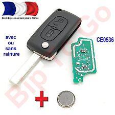 plip clé citroen 2 bouton CE0536 c1 c2 c3 c4 c5 c6 picasso avec éléctronique