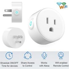 Smart Wi-Fi Mini Outlet Plug Switch Works With Echo Alexa Remote Control 10-Pack