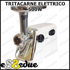 TRITACARNE ELETTRICO ACCIAIO INOX 500w TRITA MACINA CARNE CON ACCESSORI CUCINA