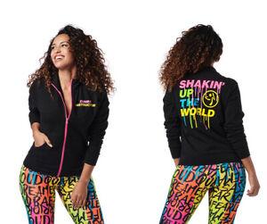 Zumba Shakin Up The World INSTRUCTOR Zip-Up Jacket - Black ~ XS, Sm, Med