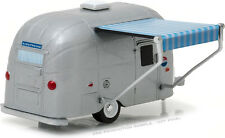 GREENLIGHT VINTAGE AIRSTREAM 16' BAMBI with AWNING 1/64 DIECAST SILVER 34010-F