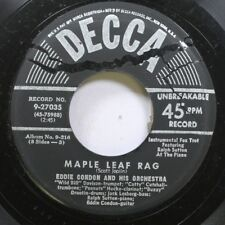 Jazz 45 Eddie Condon And His Orchestra - Maple Leaf Rag / Jazz Me Blues On Decca