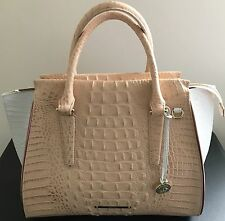 Brahmin Melbourne Collection Duxbury Crocodile-Embossed Satchel NWT Handbag $425