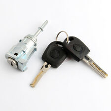 Door Lock Cylinder For VW Jetta Golf IV 4 MK4 Bora Front Left With 2 Keys