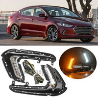 DRL LED For Hyundai Elantra 2017 2018 Daytime Running Light Fog Turn Signal Lamp